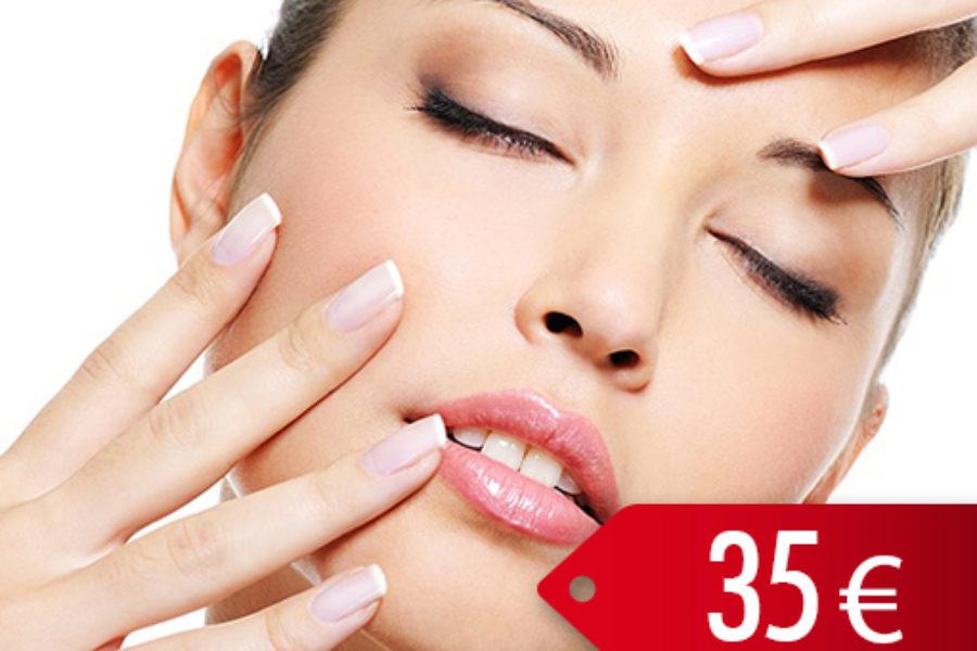 Indiba facial Regenerante con crema de hialurónico y Argán – 35€